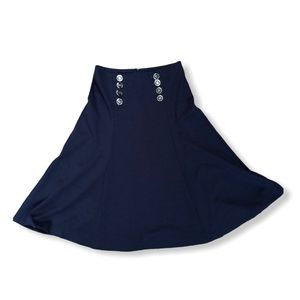 New York and Company Stretch Button Skirt